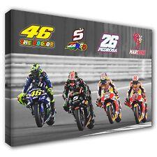 2018 Qatar MotoGP: ROSSI ZARCO PEDROSA MARQUEZ Canvas Print Art 30x20 Inch: GP29