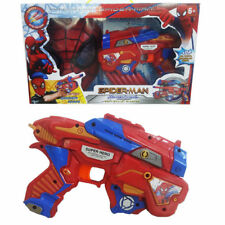 MARVEL SPIDER-MAN HOMECOMING SOFT BULLET BLASTER GUN + MASK BOY KID TOY SET