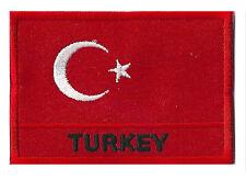 Ecusson patche drapeau patch Turquie Turc 70 x 45 mm brodé à coudre