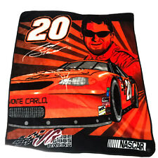 Vtg Nascar Tony Stewart 20 Home Depot Fleece Throw Blanket Racing Promo Rare 90s