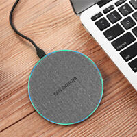 Metal 15W Fast Qi Wireless Charger Pad Mat For iPhone 8 X XS Samsung S10 Note 10