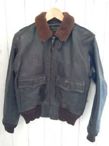EASTMAN G-1 Leather Bomber Flight Jacket Size 36 Used from Japan