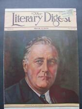 Vtg Mar 4 1933 The Literary Digest Magazine President FDR Roosevelt Japan To War
