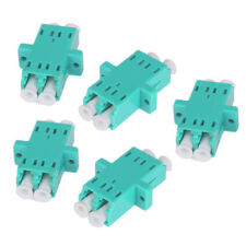5 Pcs Lc-lc Fiber Coupler Duplex Converter Optic Fiber Connector Adaptor for Om4