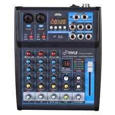 Pyle PMXU43BT Bluetooth 4 Ch. Studio / DJ Controller Audio Mixer Console System