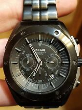 Men's Pulsar Chronograph Watch WORKING great, model VD53-X129 46.5mm