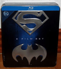 SUPERMAN & BATMAN COLECCIÓN 9 BLU-RAY NUEVO METALICA JUMBO ESPAÑOL (SIN ABRIR)R2