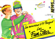 depliant publicitaire VELO PEUGEOT  VTT FUN STAR old french vintage bike