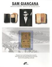 Sam Giancana - Chicago Mob Boss - Washington Park Track Owned Betting Ticket