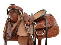 17 16 15 DEEP SEAT WESTERN HORSE SADDLE PLEASURE LEATHER ROPING RANCH TACK SET