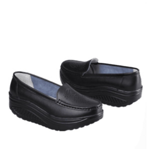 Womens  Loafers Shake Platform Hollow Out Comfort Naved Slip on Nurse Work Shoes