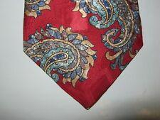 Oscar de la Renta SILK Tie Necktie 56 x 3.75 red green beige 14060