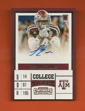 JUSTIN EVANS - 2017 Panini Contenders DP College Ticket Auto RC - Bucs/Texas A&M