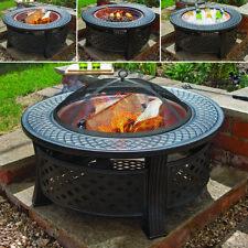 ROUND COPPER FIREPIT STEEL GARDEN PATIO OUTDOOR CHIMENEA BOWL FIRE PIT BBQ Wido