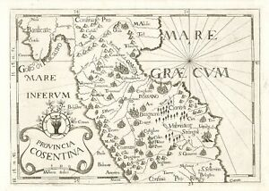 Metaponto Cartina Geografica.Carta Geografica Calabria Acquisti Online Su Ebay