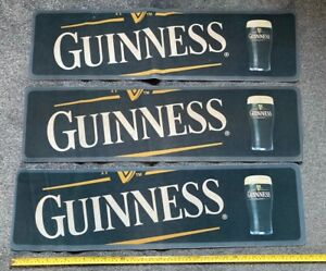 3 X Guinness Bar Runners Towels Bar Pub Man Cave