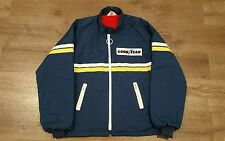 MINT GOODYEAR RACING JACKET REFLECTIVE STRIPES SIZE LARGE