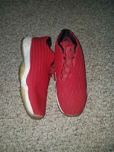 Boys Air Jordan Shoes –Size 7Y preowned RED