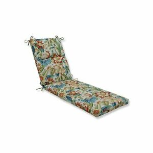 Pillow Perfect Outdoor/Indoor Botanical Glow Tiger Lily Chaise Lounge Cushion...