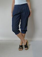vintage retro 90s 10 - 12 S marcs knicker bocker 3/4 pants blue cotton excellent