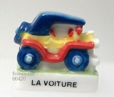 FEVE DE COLLECTION EN PORCELAINE / DE LA SERIE LE MANEGE / LA VOITURE