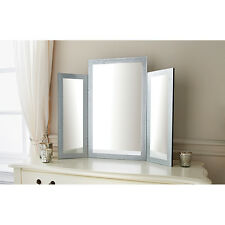 3 sections LARGE GLITTER FRAME Dressing table Mirror TRIPPLE FOLD vanity mirror