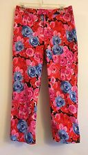 MADISON STUDIO CAPRIS WITH BRIGHT FLORAL PATTERN PANTS WOMEN'S SIZE 6