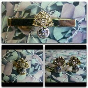 Royal Regiment Of Fusiliers Lapel / Cuff Links / Tie Bar Gift Set Version 1 RRF