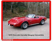 1975 Chevrolet  Corvette Stingray Convertible   Refrigerator / Tool Box Magnet