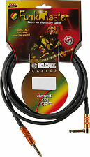 Klotz T.M. Stevens Radio Master instrumentos cable 3m | precisamente-un ángulo determinado | tmr0300