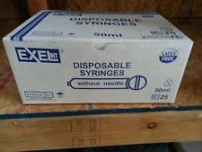 Exel 50ml Syringe catheter tip large Thumb Grip Syringe 50cc box of 25