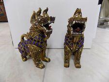 Chien Foo Dog - Bois et verre provenance Thaïlande milieu 20ème - Chien Dragon