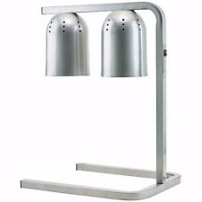 Commercial 2 Bulb Aluminum Heat Lamp Food Warmer