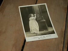 WHEELS GO ROUND Little Girl Real Photo Postcard RPPC Bamforth & Co. Publishers L