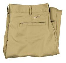 Nike Golf Mens W30 L32 Dri Fit Pants Tan Chino Khaki Trousers Polyester Brown