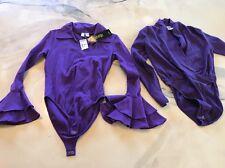 Vintage Snap Crotch Body Suits Both Size Medium Purple One Step Up Osc M Ward