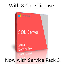 Microsoft SQL Server 2014 Enterprise SP3 w. 8 Core License, unlimited User CALs