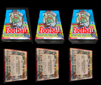 1989 Topps Football Unopened Wax Box BBCE wrapped from case  - Lot of 3