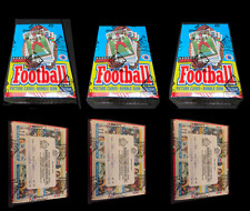 Lot of 3  1989 Topps Football Unopened Wax Boxes. Each box BBCE wrapped.