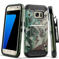 Samsung Galaxy S7 Case, Kickstand Case with Belt Clip Holster + Screen Protector