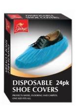One Size Disposable Shoe Covers- 24 pcs