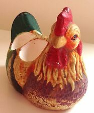 VINTAGE CERAMIC HAND PAINTED ROOSTER / COCKEREL / CHICKEN EGG HOLDER