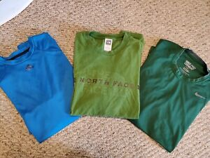 Lot 3-Nike Pro Combat Mens Drifit Short Sleeve Fitted Green, Adidas North face L