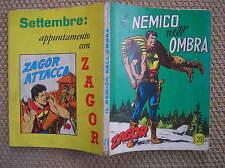 ZAGOR ZENITH #77 IL NEMICO NELL'OMBRA ORIGINALE 1967 OTTIMO