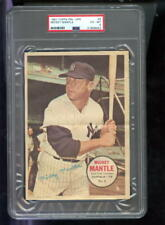 1967 Topps Pin-Ups Poster #6 Mickey Mantle Yankees PSA 6 Graded Baseball Card