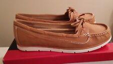 Women's Pesaro Lisbon Cognac Faux Leather Slip On Mock Loafers Size 9M