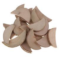 30 Crescent Shape Wood Log Slices Natural Tree Bark Decorative Embellishment