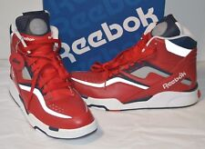 New Reebok Twilight Zone Pump OLYMPIC Red/Navy/White/Silver Reflective sz 11.5