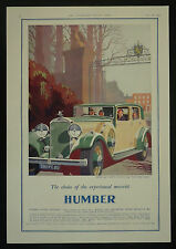 Humber Snipe 80 Sports Saloon Car 1932 1 Page Advertisement Advert Ad