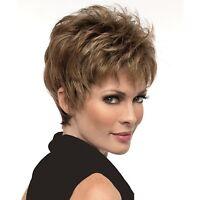 Ladylike Full Bang Capless Fluffy Natural Straight Short Hair Wig For Women